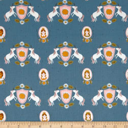 Riley Blake Guinevere Main Dark Blue Fabric