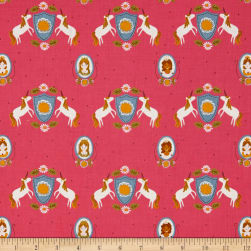 Riley Blake Guinevere Main Hot Pink Fabric