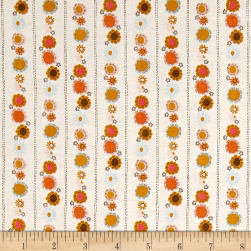 Riley Blake Guinevere Daisy Chain StripeCream Fabric