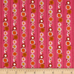 Riley Blake Guinevere Daisy Chain Stripe Hotpink Fabric