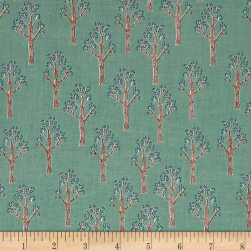Riley Blake Lancelot Trees Teal Fabric