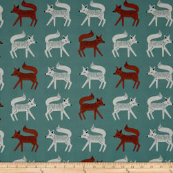 Art Gallery Campsite Sneaky Little Foxes Fabric