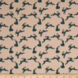 Art Gallery Campsite Hopping Hare Fabric