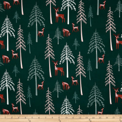 Art Gallery Campsite Among the Pines Deep Teal/Multi