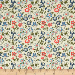 Liberty Fabrics The Cottage Garden Lawn Games Blue