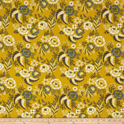 Birch Organic Merryweather Merry Floral Marigold Fabric