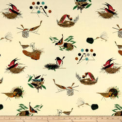 Birch Organic Charley Harper Bird Architects Main Fabric