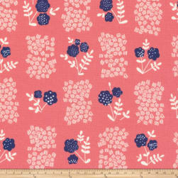 Cloud 9 Whitehaven New Lane Organic Coral Fabric