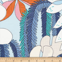 Cloud 9 Terrestrial Epiphyte Organic Turquoise/Pink Fabric