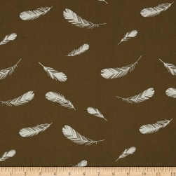 Birch Organic Charley Harper Nurture Feathers Brown Fabric
