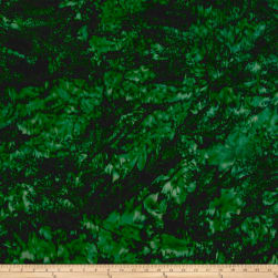 Hoffman Bali Batik Watercolors Christmas Green Fabric