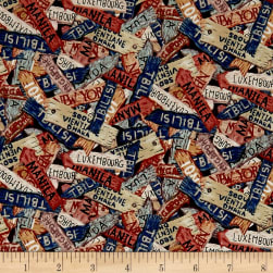 Dear Friends Tossed City Signs Navy/Multi Fabric
