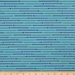 Ring Ring Pencil Stripe Caribbean Fabric