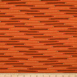 Ring Ring Pencil Stripe Persimmon Fabric
