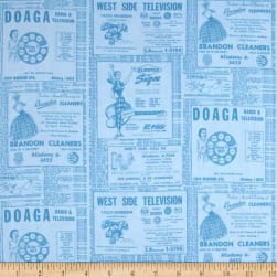 Ring Ring Phone Book Ads Water Fabric