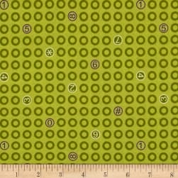 Ring Ring Rings And Numbers Parsley Fabric