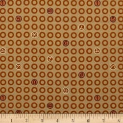 Ring Ring Rings And Numbers Cinnamon Fabric
