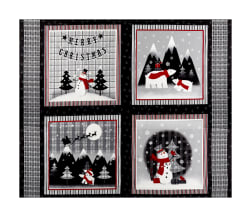 Red + Grey Christmas Block 36