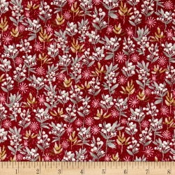 Holiday Editions Mistletoe Metallic Crimson/Multi Fabric