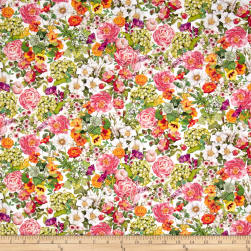 Kaufman Everyday Favorites Blossom Flowers Pink
