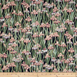 Kaufman Imperial Collection Garden Flowers Metallic Garden Fabric