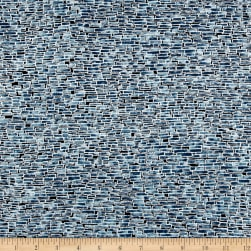 Kaufman Imperial Collection Bricks Metallic Indigo Fabric