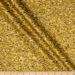 Kaufman Imperial Collection Bricks Metallic Gold Fabric