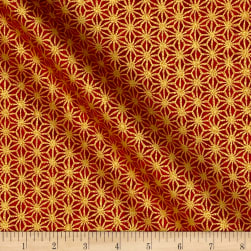 Kaufman Imperial Collection Crimson Crimson Metallic Fabric