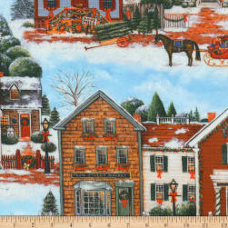 Kaufman Christmas In the Village Christmas Country Fabric
