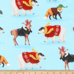 Kaufman Critter Cabin Animals Sweaters Jackets Ice