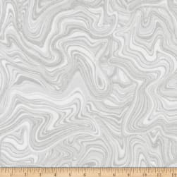 Kaufman Holiday Flourish 11 Marble Metallic Silver Fabric