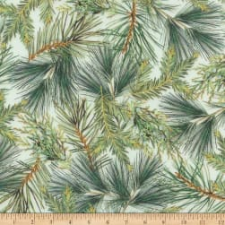 Kaufman Holly Jolly Pine Branches Holiday Fabric