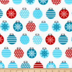 Kaufman It's Chilly Outside Ornaments Ice Fabric