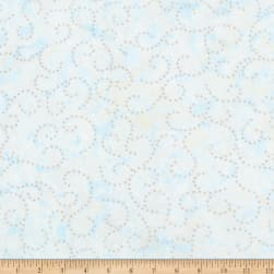 Kaufman Northwoods Batik Flourish Metallic Ice Fabric