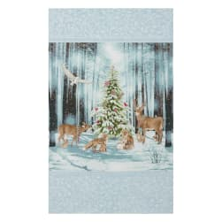 Kaufman Winter White 3 Winter Christmas Animals Trees