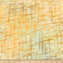 Kaufman Cornucopia Crosshatch Batik Maize Fabric