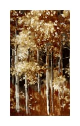 Kaufman Sound Of The Woods Trees Metallic Natural