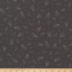 Kaufman Animal Kingdom Branches Trees Charcoal Fabric