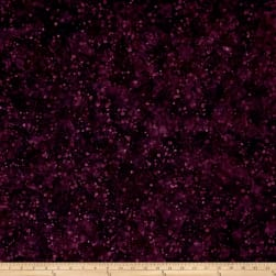 Blossom Batiks Valley Ink Dots Aubergine Fabric