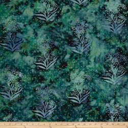 Blossom Batiks Valley Sunny Flower Tide Pool Fabric