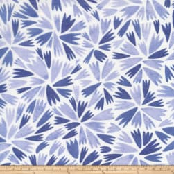 Cloud9 Fabrics Organic Elliot Avenue Helly Batiste White/Blue