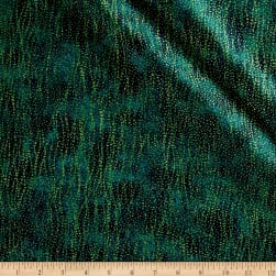 Shimmer Basics Dark Teal Metallic Gold Fabric
