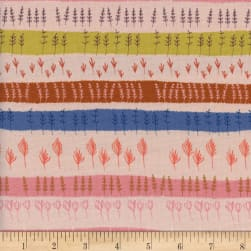 Cotton + Steel Firelight Herb Garden Peach Fabric