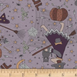 Little Witchy Wonderland Everything Witchy Lavender Fabric