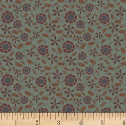 Little Witchy Wonderland Pickleweed Aged Dirty Sage Fabric