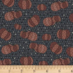 Little Witchy Wonderland Pumpkin Patch Black Fabric