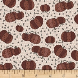 Little Witchy Wonderland Pumpkin Patch Milkweed Fabric