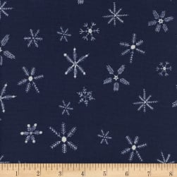 Cotton + Steel Frost Flurry Navy Fabric