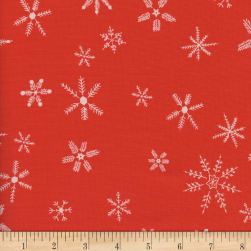 Cotton + Steel Frost Flurry Unbleached Red Fabric
