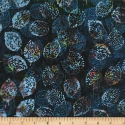 Hoffman Bali Batiks Leaves Liquorice Fabric